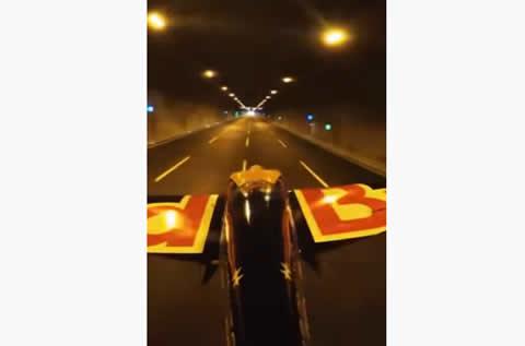 Flying A Plane Through A Tunnel
