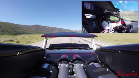230mph in the Bugatti Veyron Vitesse