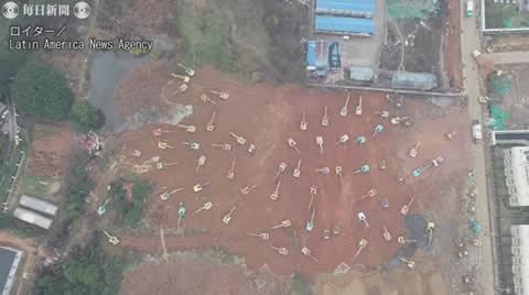 中国・武漢に新型肺炎患者専門の新病院を突貫工事で建設!