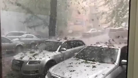 Gigantic Hailstones and Rocks Rain Down
