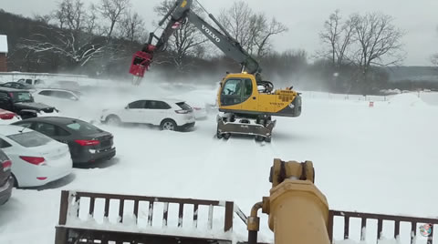 Brilliant Mass Car Snow Removal Invention