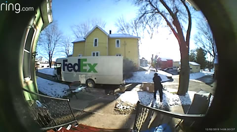 Delivery Driver Loses His Cool over Heavy Package