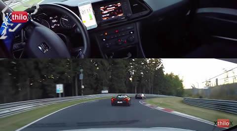 McLaren P1 + Seat Leon Cupra + Fast Biker