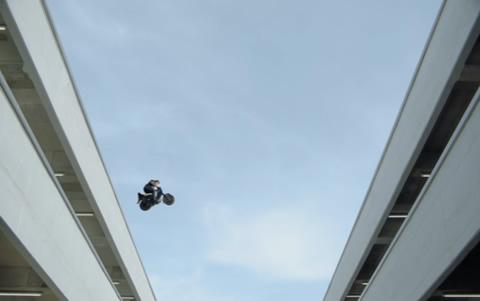 David Hasselhoff in Moped Rider