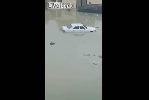 Footage of Flooding in Saud Arabia