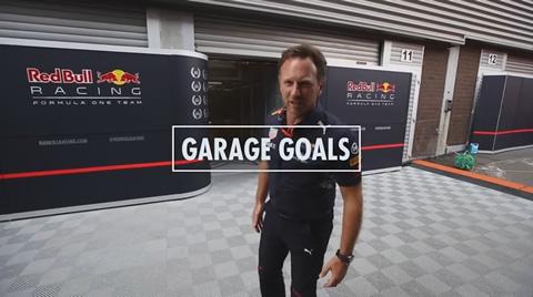 Christian Horner Red Bull Racing Garage Tour