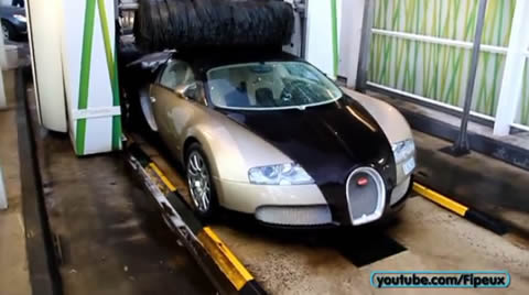 WOULD YOU WASH YOUR BUGATTI LIKE THAT