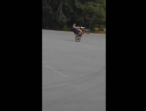 Wheel Pops off Motorcycle
