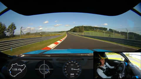Onboard record lap of the Lynk & Co 03 Cyan