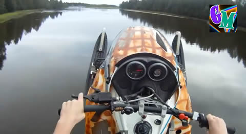 SNOWMOBILE_on_water