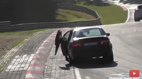 BMW E46 door failure on Nürburgring