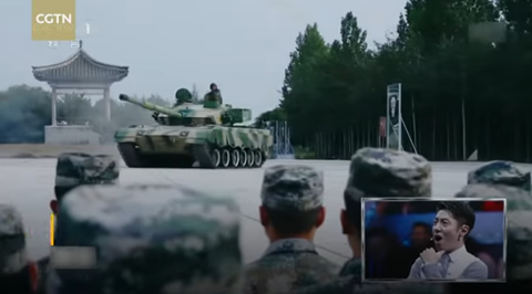 Chinese soldier drives tank like sports car