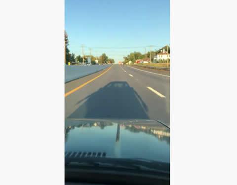 Truck Runs Along Road