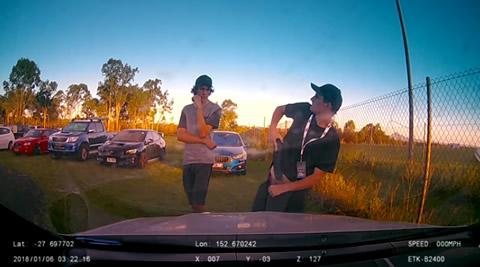 Car Park Thieves Caught on Dashcam