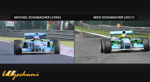 MICK SCHUMACHER DRIVES HIS FATHERS CAR