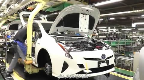Prius 2017 Production and Assembly Line Assembly Process