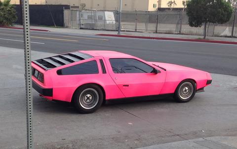 pink-delorean