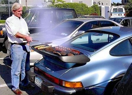 Porsche wing grill