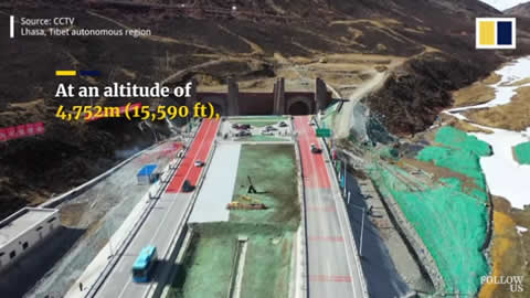 Worlds highest highway tunnel opens to traffic in Tibet
