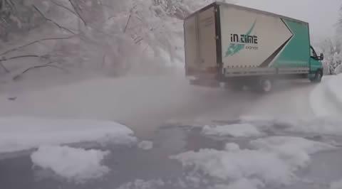 Truck drift on snow