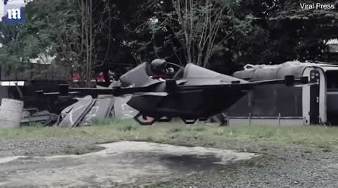 Eccentric inventor creates his own FLYING CAR