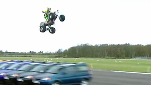 Longest ramp jump on a quad bike