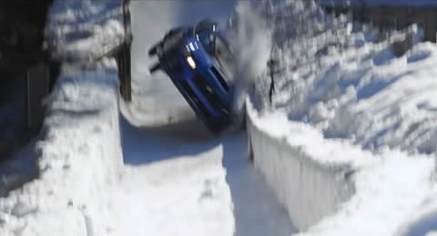 Boxersled Subaru WRX STI vs an Olympic Bobsled Run