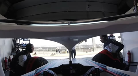 Williams Martini Racing Robert Kubica's first laps with the Halo