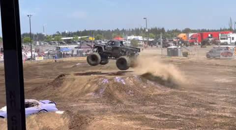 Runaway Monster Truck Tire