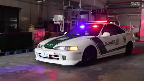 dubai police sport car Honda integra
