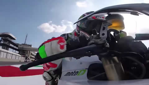 Max Biaggi Tests The Top Speed of MotoE Bike
