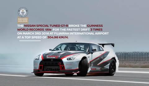 Nissan GT-R breaks Guinness