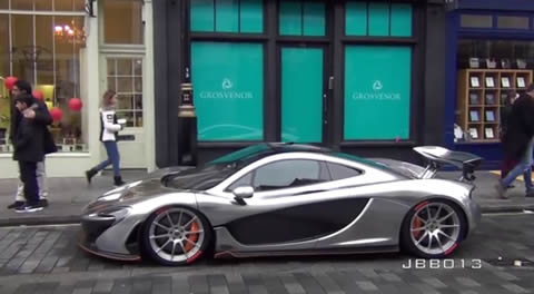 CHROME McLaren P1 Race Mode in the City