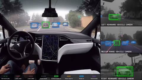 Tesla Self-Driving Demonstration
