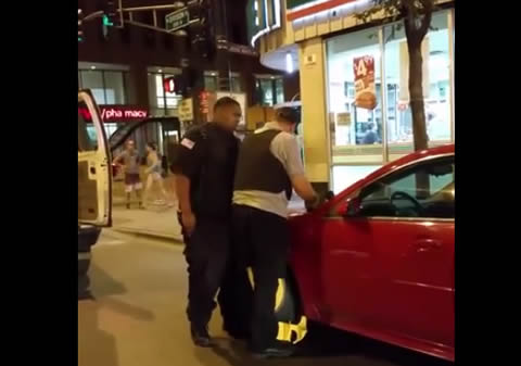 Security Guard Drives Off With Boot on His Car