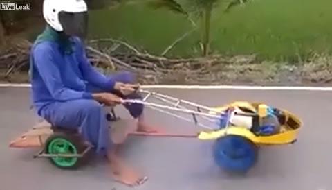 Man creates his own unique Vehicle