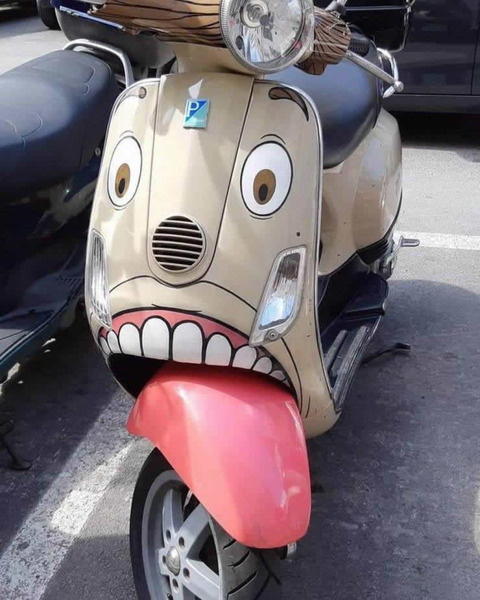 Tongue scooter