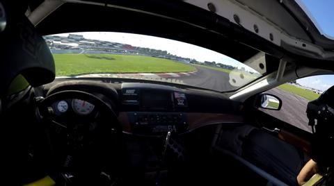 Chris Forsberg Drifting NASCAR Pit Road in 4 Seater Drift Car
