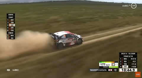 Takamoto Katsuta at WRC Safari Rally Kenya 2021