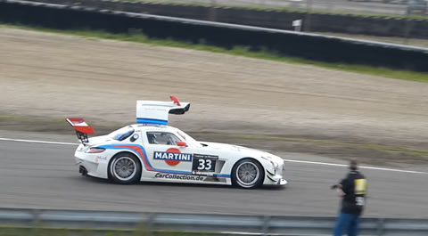 Mercedes-Benz SLS AMG GT3 Racing With Open Door
