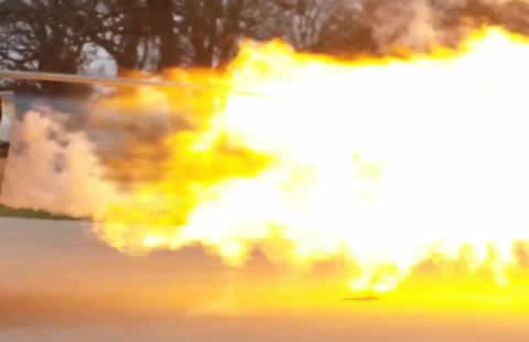 Flash Fire Jet Truck Roasts Turkey