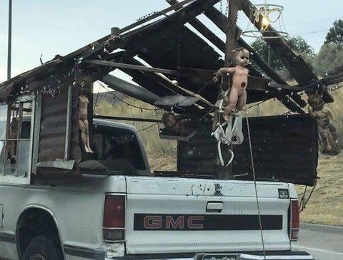 Fear pickup truck