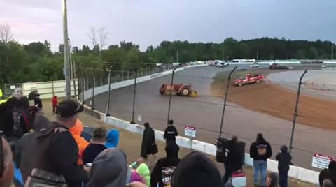 Runaway tractor at Tri-city Speedway in Auburn