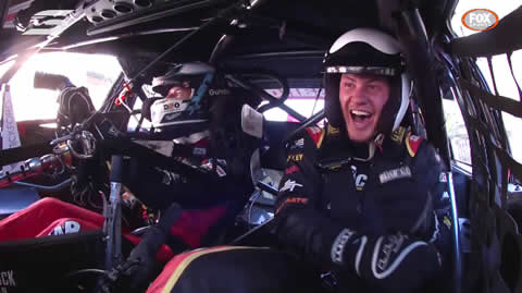 Chaz Mostert takes Kalyn Ponga for the ride of his life