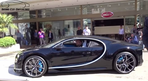 FIRST Bugatti CHIRON Start-up & Unloaded in Monaco