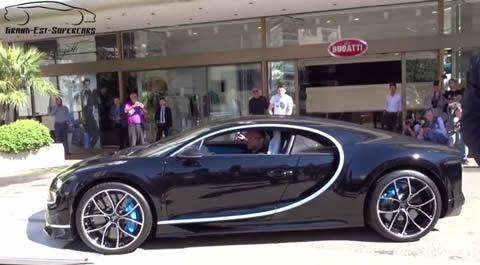 FIRST Bugatti CHIRON Start-up & Unloaded in Monaco