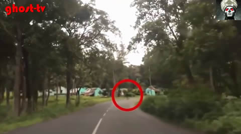 Real Ghost caught on camera on Road