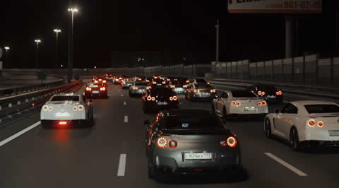 40 Nissan GT-Rs in Moscow. Godzillas meeting