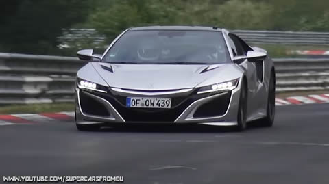 Honda NSX Type-R Testing Hard on the Nurburgring