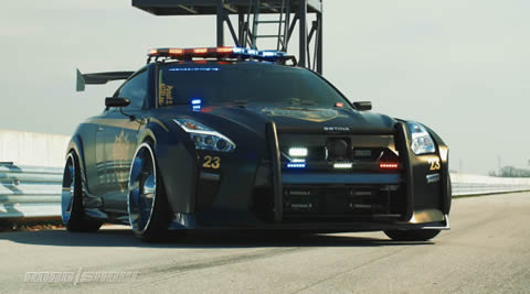 Nissan's Pursuit 23 turns Godzilla into Copzilla
